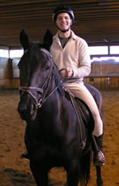"riding lesson on Anchorage Farm's school horse, ""Shade"""
